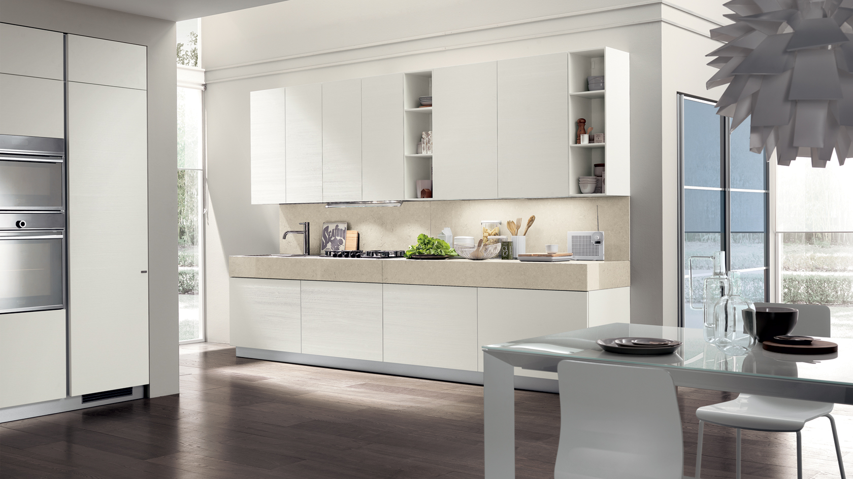 Cucine moderne mobil house mosciano for Cucine rosse moderne