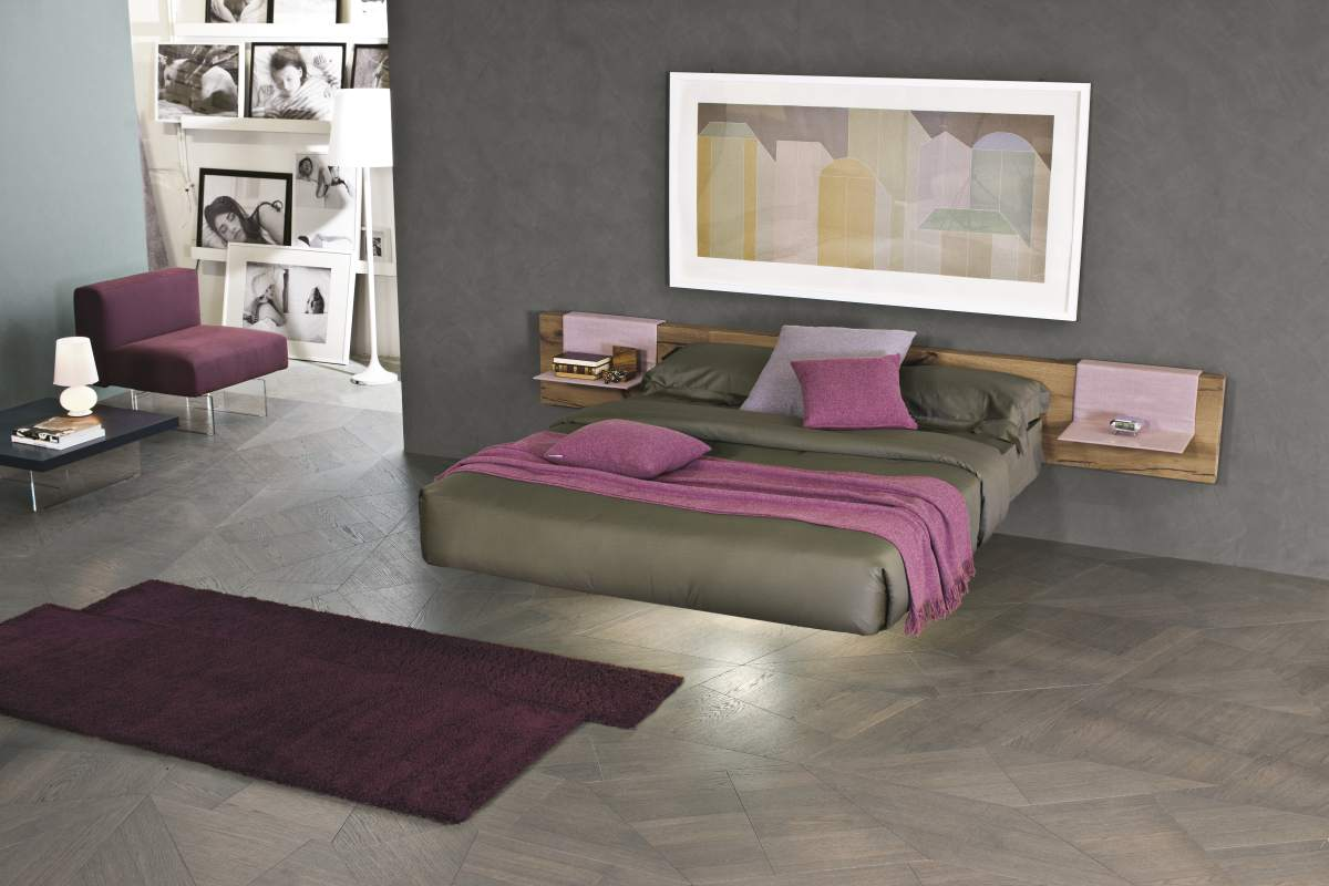Zona notte moderno mobil house mosciano for Letto lago vele